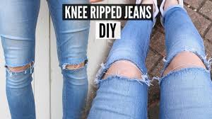 DIY Knee <b>Ripped Jeans</b> Tutorial 2020 - How To <b>Style</b> - YouTube