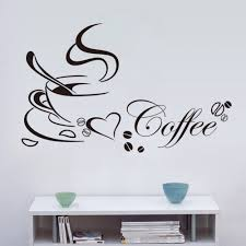 sun wall decal trendy designs: newest  pcs creative coffee wall stickers living room coffee shop kitchen wall stickers home diy