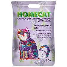 Купить <b>силикагелевый наполнитель</b> туалета для кошек <b>Homecat</b> ...