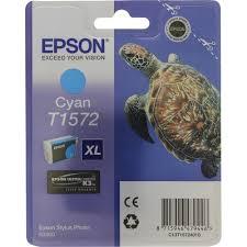 Оригинальный <b>картридж Epson</b> T1572 (голубой) Голубой (<b>Cyan</b> ...