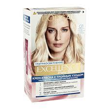 Крем-краска для <b>волос</b> `LOREAL` `EXCELLENCE` тон 01 (<b>Супер</b> ...