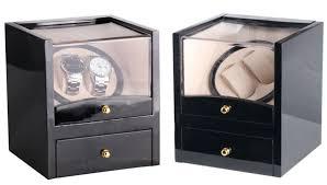 <b>Watch Winder</b> Wood Box 2 Slots Global Use with <b>US</b>/<b>AU</b>/UK/<b>EU</b> ...
