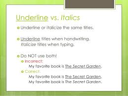 Do we underline movies in an essay | Writer s Web: Titles ... via Relatably.com