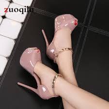 <b>Peep Toe Platform High</b> heels Pumps Women Shoes <b>2019</b> women ...