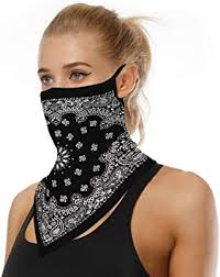 MAYFASEY Unisex Floral Paisley <b>Triangle</b> Face <b>Mask</b> Earloop ...