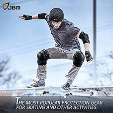 JBM Adult/Child Knee Pads <b>Elbow</b> Pads Wrist Guards <b>3 in 1</b> ...