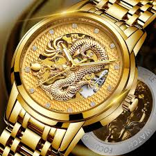 <b>LIGE</b> Dragon <b>Skeleton Automatic Mechanical</b> Watches For Men ...