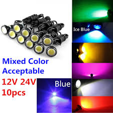 10pcs 9W 12V 24V 18MM 23MM <b>LED</b> Eagle Eye <b>Light Car</b> Fog DRL ...
