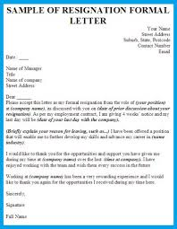 formal resignation letter templatebest business template   best    formal resignation letter with  weeks noticebusiness letter examples w u tnoh