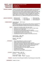 restaurant job resume bar job cv resume samples for hospitality bar manager cover letter