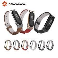 <b>Mijobs Mi Band 4</b> Leather Wrist Strap for Xiaomi Mi Band 4 NFC ...