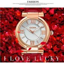 <b>DOM Women Watch</b> Luxury Brand Waterproof Style Quartz Leather ...