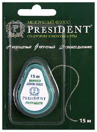 Отзывы | <b>флосс</b> мятный с фтором <b>President</b>, межзубная нить 15 ...