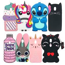 For Samsung J3 <b>2017 Case</b> Cute 3D Unicorn Minnie Stitch Soft ...