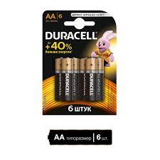 <b>Батарея Duracell</b> Basic <b>LR6</b>-<b>6BL MN1500</b> AA (6шт) – купить в ...