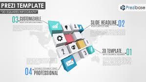 business prezi templates prezibase 3d squares infographic