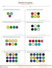 Fractions worksheets, understanding fractions, adding fractions ...Fractions in a mixed group of dots