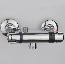thermostatic brand bathroom: bathroom thermostatic faucet mixer water tap copper shower faucet thermostatic mixing valve wall mounted