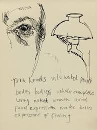 lucian freud the pitiless eye by jenny uglow nyr daily the lucian freud self portrait lamp and text date unknown