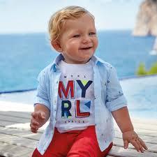 <b>Mayoral Рубашка</b> для мальчика 1166 - Акушерство.Ru