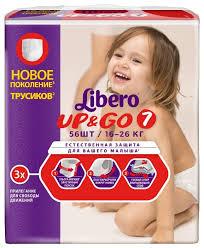 <b>Libero трусики Up</b> & Go 7 (16-26 кг) 56 шт. — купить по выгодной ...