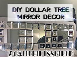 tree wall decor art youtube: diy dollar tree faux mirror wall art easy ampamp quick youtube