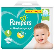 <b>Pampers подгузники Active Baby</b>-<b>Dry</b> 4 (9-14 кг) 76 шт. — купить по ...