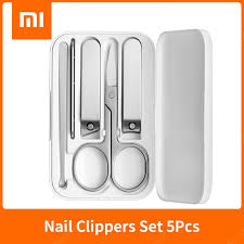 Original XIAOMI <b>MIJIA Nail</b> Clippers 5 Pcs Stainless Steel Manicure ...