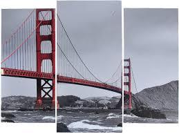 Картина <b>Мост Золотые ворота</b>, модульная, 3981614, <b>60</b> х 80 см ...