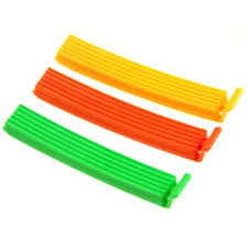 <b>Набор зажимов для пакетов</b> 6 шт, пластик, 10 см, 6 цветов (438 ...
