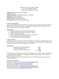syllabus conversational english