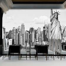 liberty bedroom wall mural: the statue of liberty photo mural modern style living room sofa tv background wall decor custom