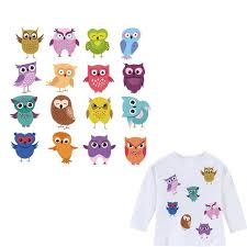 <b>Cute Cartoon Owl</b> Patches Easy Print By Household <b>Iron</b> On A-Level ...