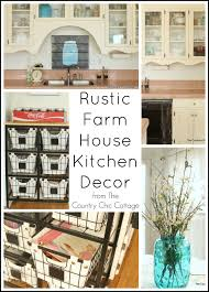Rustic Farmhouse Kitchens Rustic Farmhouse Kitchen Decor The Country Chic Cottage