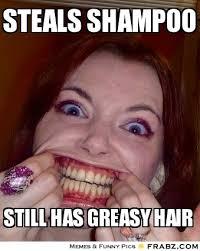 STEALS SHAMPOO... - vanessa Meme Generator Captionator via Relatably.com