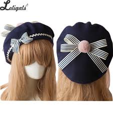 Sweet <b>Women's</b> Lolita Sailor <b>Beret</b> Gothic Wool <b>Beret Hat</b> with ...