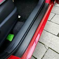 4X <b>Car</b> Stickers <b>Carbon</b> Fiber <b>Door Sill</b> Protector Scuff Plate Trim ...