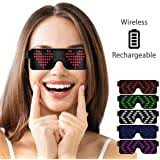 CHEMION - Unique Bluetooth <b>LED Glasses</b> - Display Messages ...