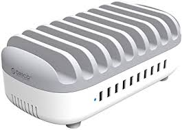 <b>ORICO</b> Charging Station for Multiple Devices (White) - <b>10</b> USB ...