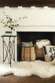 gorgeously easy fireplace decor ideas view in gallery rattan basket fireplace decor