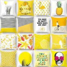<b>Nordic Style Pillowcase</b> Yellow Pillow Civer Pillowcase Car Cushion ...