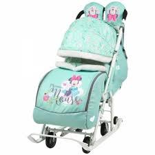 <b>Санки</b> - <b>коляска Ника</b> Детям <b>Disney</b> Baby 2 с выкатными колесами