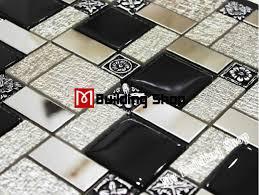 kitchen backsplash stainless steel tiles: black white glass mosaic kitchen wall tiles backsplash rnmt silver metal mosaic stainless steel tiles mosaic