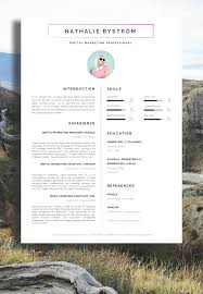 resume template cv template cover letter resume advice for nathalie bystrom marketing cv resume a professional approach resume resumedesign