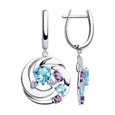 Купить серебряная <b>подвеска</b> с <b>топазами</b> арт. 92030576 за <b>3</b> 190 ...
