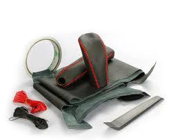 Кожаные <b>оплетки</b> руля, кпп, ручника на Subaru Forester 3