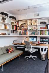 diy home desk office contemporary study room idea in dc metro with carpet a built diy home office desk recycled