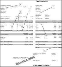 wages and wage statements working in the food service industry the images shows a sample pay statement at the top left is the employee