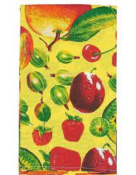 """Набор кухонных <b>полотенец Letto</b> """"Фрукты и ягоды"""", цвет: желтый ..."""