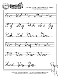 worksheets for cursive writing alphabets best worksheet cursive writing worksheet printables